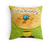 What my #Tea says to me - January 9, 2014 Pillow Throw Pillow