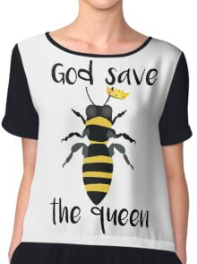 God Save the Queen Bees Chiffon Top