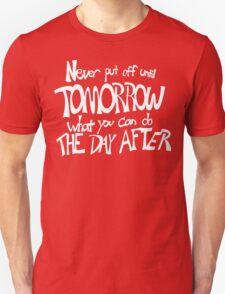 Procrastinator's Manifesto Unisex T-Shirt