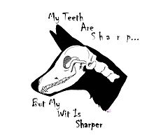 My Teeth Are Sharp Photographic Print