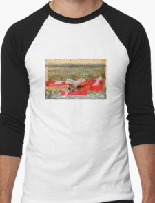 Beach Images Collage Men's Baseball ¾ T-Shirt