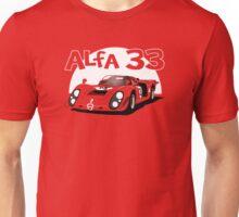 Alfa Romeo 33 Sports Racer  Unisex T-Shirt