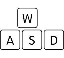 WASD Gaming Keys Photographic Print