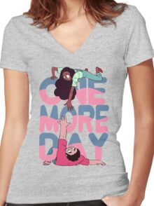 more day Women's Fitted V-Neck T-Shirt