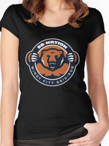 chicago bears Women's Fitted Scoop T-Shirt