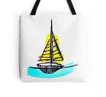 Summer Sail Boat Tote Bag