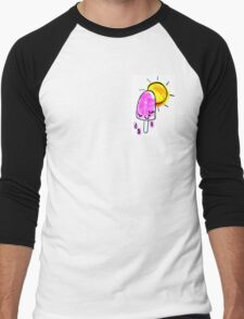 Melting Popsicle Men's Baseball ¾ T-Shirt