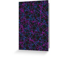 Abstract Geometric 3D Triangle Pattern in Blue / Pink Greeting Card