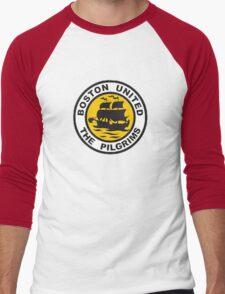 Boston United Badge Men's Baseball ¾ T-Shirt