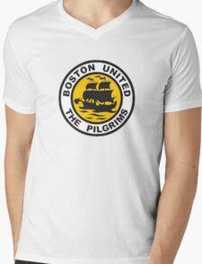 Boston United Badge Mens V-Neck T-Shirt