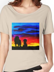 A Girl and Her Lion Women's Relaxed Fit T-Shirt