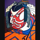 Kabuki Actor Pillow and Tote Bag by Shulie1
