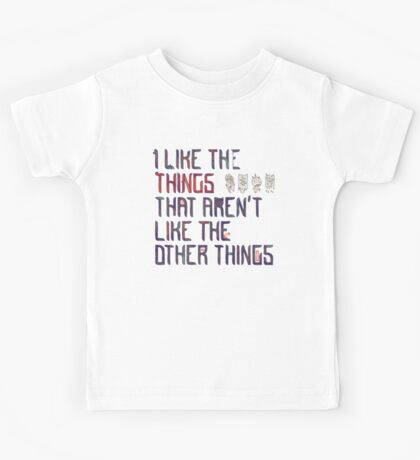 The Things I Like Kids Tee