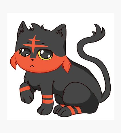 Litten- Pokemon Photographic Print