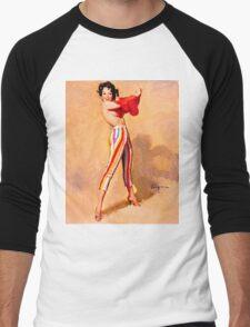 Gil Elvgren Appreciation T-Shirt no. 06 Men's Baseball ¾ T-Shirt