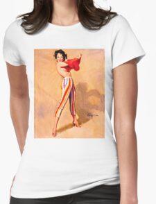 Gil Elvgren Appreciation T-Shirt no. 06 Womens Fitted T-Shirt