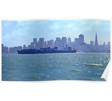 San Francisco Cargo Ship Poster