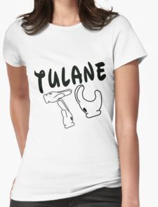 Mickey Mouse Hands Tulane Womens Fitted T-Shirt