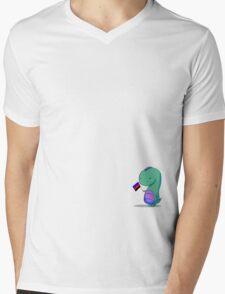 Polyamory Pride Dino Mens V-Neck T-Shirt