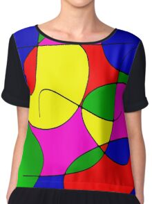 ABSTRACT CURVES-1 (Multicolor Bright-3)-(9000 x 9000 px) Chiffon Top