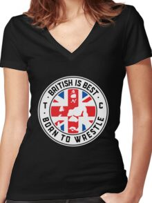 Toby Clements 'British Is Best' Flag Artwork #8 Women's Fitted V-Neck T-Shirt