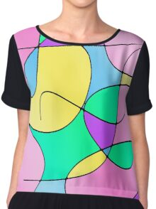 ABSTRACT CURVES-1 (Multicolor Light-3)-(9000 x 9000 px) Chiffon Top