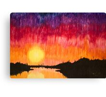 Strands of Sunset Canvas Print
