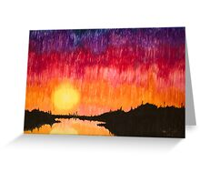 Strands of Sunset Greeting Card