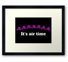 It's Air Time MTB jump Framed Print