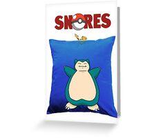 Snorlax Jaws Mashup Greeting Card
