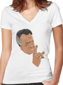 The sopranos - Paulie  Women's Fitted V-Neck T-Shirt