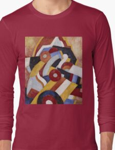 Marsden Hartley - Abstraction Blue, Yellow And Green. Abstract painting: abstract art, geometric, expressionism, composition, lines, forms, creative fusion, spot, shape, illusion, fantasy future Long Sleeve T-Shirt