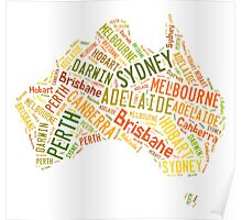 Cities of Australia Poster