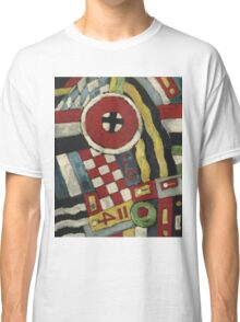 Marsden Hartley - Berlin Abstraction. Abstract painting: abstract art, geometric, expressionism, composition, lines, forms, creative fusion, spot, shape, illusion, fantasy future Classic T-Shirt