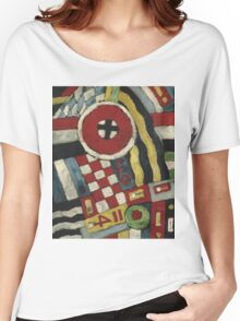 Marsden Hartley - Berlin Abstraction. Abstract painting: abstract art, geometric, expressionism, composition, lines, forms, creative fusion, spot, shape, illusion, fantasy future Women's Relaxed Fit T-Shirt
