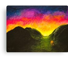 Sunset Valley Canvas Print