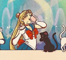 Bishoujo Senshi Sailor Moon Tea Party by paigeonecomics
