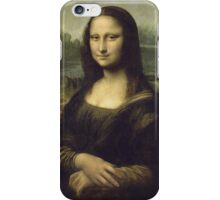 Leonardo Da Vinci - Mona Lisa. Woman portrait: Monna Lisa, Gioconda, smile, enigmatic,  italian, florence, smile gioconda, smile  mona lisa, love, painting , leonardo da vinci paintings iPhone Case/Skin