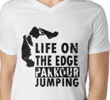 Life On The Edge   Parkour Edition   Nordic Clothing Mens V-Neck T-Shirt