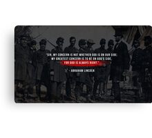 Wise Words From Lincoln  Canvas Print