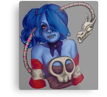 Squigly Bust Metal Print