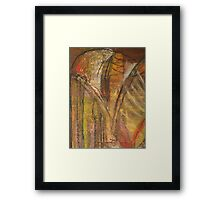 Windy Autumn - Section of Art Pastel Abstract  Framed Print