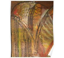 Windy Autumn - Section of Art Pastel Abstract  Poster