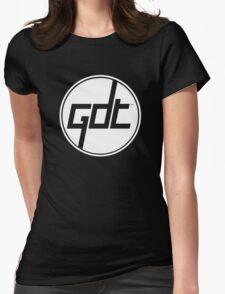Great Dane Technologies - White Ring Logo Womens Fitted T-Shirt