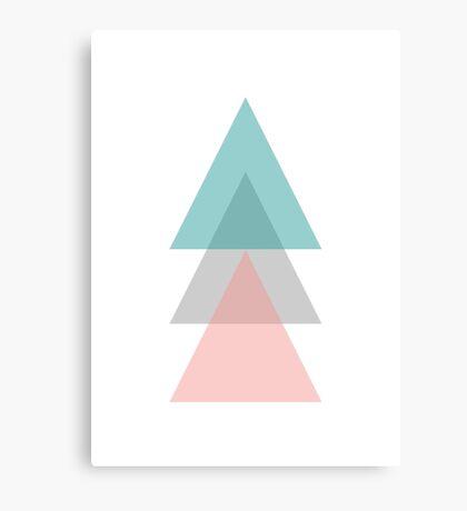 Aqua - Triangles Canvas Print