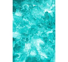 Turquoise watercolor texture Photographic Print
