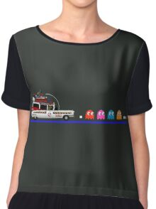 Ghostbusters meets Pac-Man Chiffon Top