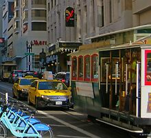 San Francisco Powell and Sutter by David Denny