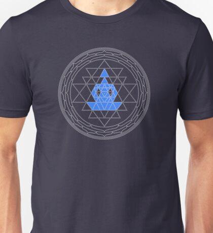 Sri Chakra Blue Meditation  Unisex T-Shirt