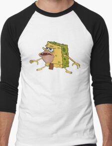 Spongebob Caveman Meme  Men's Baseball ¾ T-Shirt